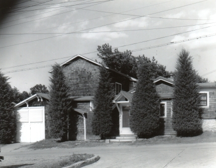 2418 Guernsey, after additions, shingle siding added, circa 1950s?